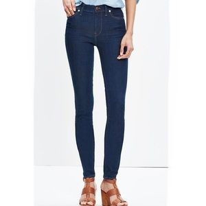"Madewell 9"" High Rise Skinny Jeans in Davis Wash"